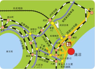 オライはすぬま広域マップ